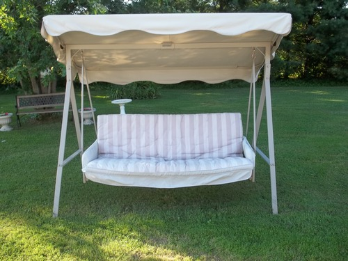 Solid Gray Color Replacement Canopy For Garden Treasures Traditional 3 Person