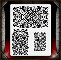 Celtic Tribal 1 AirSick Airbrush Stencil Template