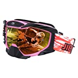 JIEPOLLY Motocross Goggles, ATV Dirt Pit Scooter Motorcycle Helmet Goggles Tear Off Lens for Adlut Women Men (Color: Black With Pink)