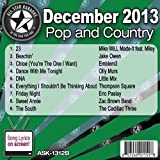 All Star Karaoke December 2013 Pop and Country Hits B (ASK-1312B)