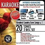 echange, troc Karaoke - Karaoke: Greatest Country Love Songs with Karaoke Edge