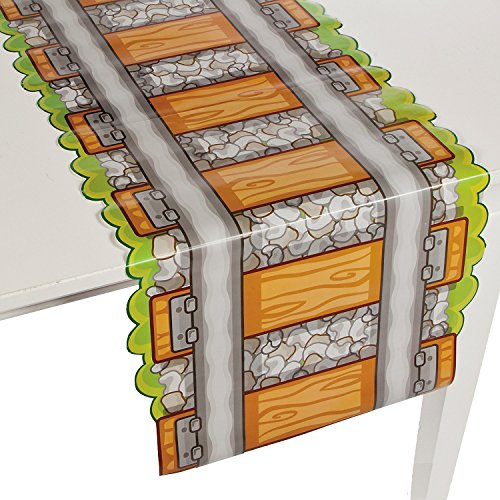 Railroad Train Tracks Paper Party Tablecover Table Runner