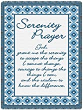 God Grant Me - Blue Tapestry Decorative Afghan Throw