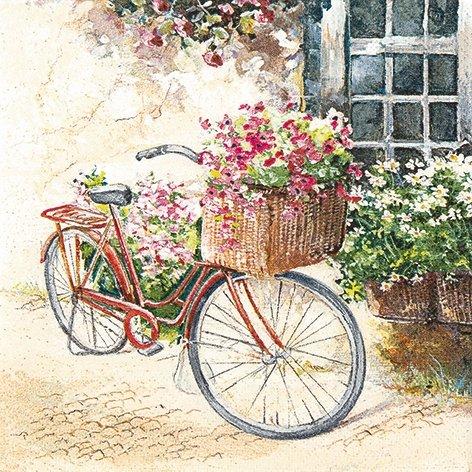 20-serviettes-33-x-33-cm-fleurs-fleur-de-printemps-ete-de-velo-bike-vintage-cottage