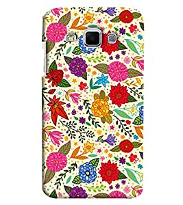 Blue Throat Leaves And Flower Pattern Printed Designer Back Cover For Samsung Galaxy J3