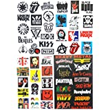 NAVA 4x Multi Rock Punk Music Band Skull Luggage Skateboard Laptop Car Bumper Sticker