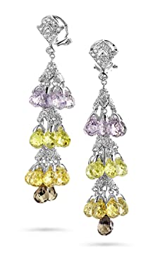 Orphelia Women's Earrings 925 Sterling Silver with Zirconia Chandelier Ear 1495