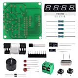 Aoicrie Digital LED Display 4 Bits Electronic Clock Electronic Production Suite DIY Kit with PCB Board for Soldering Practice Learing Electronics (Color: 4-digit)