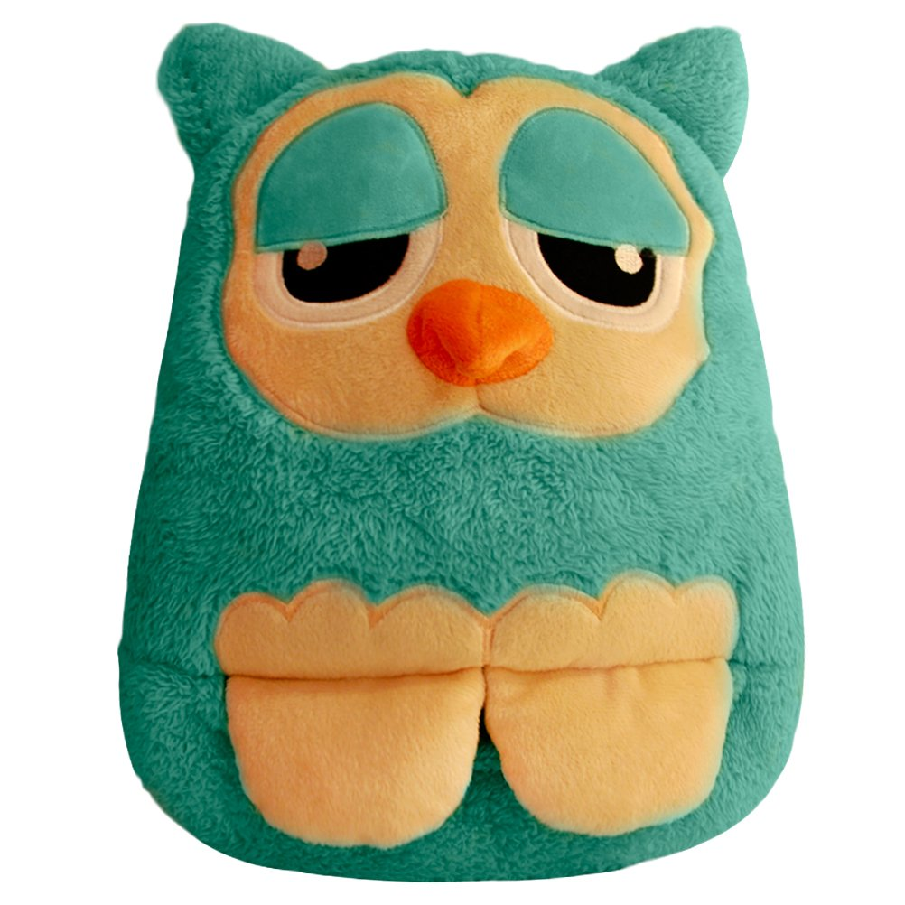 LIWUYOU Electric Heating Warm Feet Shoes and Hand Pillow Cute Owl Multi-use Cushion Winter USB Warmer Shoes