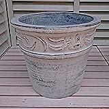 ベトナム鉢 ラムエル (30cm) アイスウォッシュ色 テラコッタ 植木鉢 プランター アンティーク調 陶器鉢 おしゃれ 園芸 ガーデニング ヨーロピアンガーデン