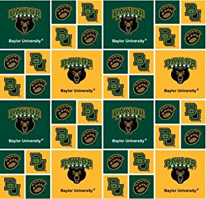 baylor bears cotton fabric baylor cotton fabric sold by the yard ncaa college cotton. Black Bedroom Furniture Sets. Home Design Ideas