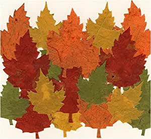 Decorative Die Cut Paper Accents- Pack of 20 Maple Leaves in Harvest Colors