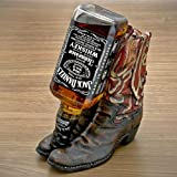 Rivers Edge Hand Painted Cowboy Boot Wine Bottle Holder