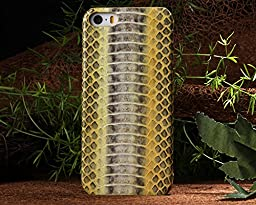 Iphone 5S Case,E-Age Luxury Genuine Snake Skin Leather Case Hard-Shell Cover for iPhone 5/5S (A5)