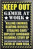 Gaming – Poster – Keep Out + Wechselrahmen der Marke Shinsuke® Maxi aus edlem Aluminium (ALU) Profil: 30mm schwarz