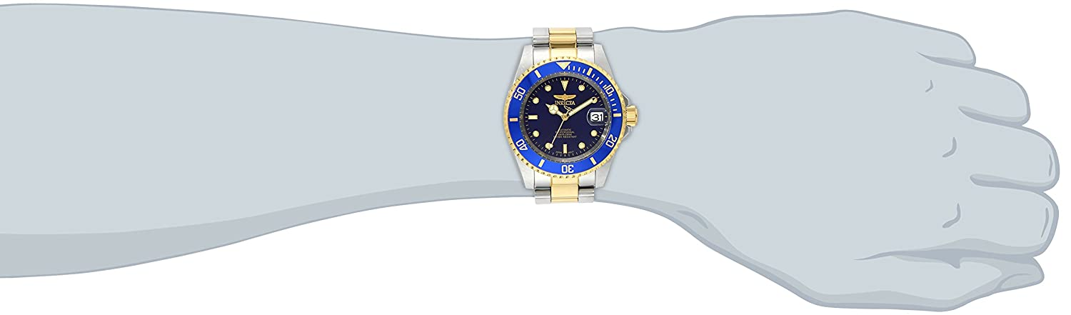 Amazon.com: Invicta Men's 8928OB Pro Diver 23k Gold-Plated and ...