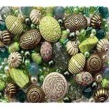 Approx 400 x Forest Glen Green Jewellery Making Starter Beads Mix Set
