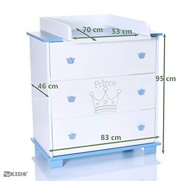 Commode-Table /à langer Pali Tris Blanc