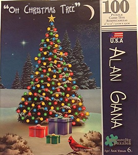 Alan Giana Holiday Series -Oh Christmas Tree - 100 Piece Puzzle - 1