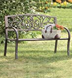 Blooming Garden Cast Aluminum Bench