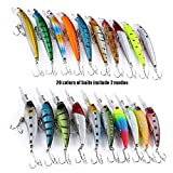 20-Pcs-2-Models-Mixed-Fishing-Lure-Minnow-Crank-Bait-Fishing-Tacklecolormix