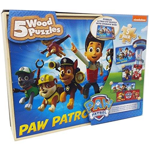 Paw Patrol 5 Wood Jigsaw Puzzles