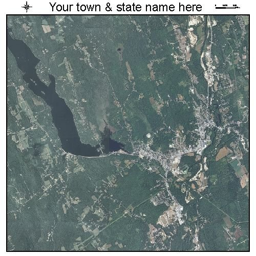 Aerial Photography Map of Norway, Maine