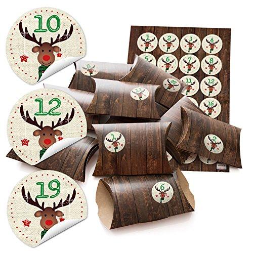 24-petites-boites-cadeau-aspect-bois-marron-avec-chiffres-autocollants-calendrier-de-lavent-cerf-pou