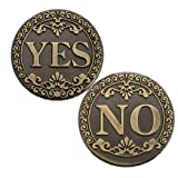 MarshLing Bronze Three-Dimensional Embossed YES or NO Decision Lucky Coin Collection Love Gold Coins Perfect Quality (Color: Bronze)