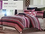 Bijoux King Duvet Cover Set By Ideology Geometric Pink Multi (King)