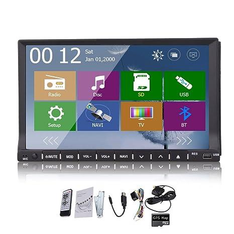 Windows 8 2015 Nouveau modššle de 7 pouces 2-DIN šŠcran tactile LCD de tableau de bord voiture lecteur DVD avec DVD / CD / MP3 / MP4 / USB / SD / AmFm / RDS Radio / bluetooth / stšŠršŠo / audio et de