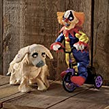 Halloween Animated Clown On Tricycle Haunted House Decoration Party Spooky Prop