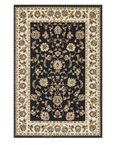 Loloi Rugs Welbourne Rug, Black/Ivory, 7' 7 Round