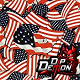Freedom Flags American Hydrographic Water Transfer Film Hydro Dipping (Tamaño: 2M X 50cm - 20