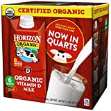 Horizon Organic Whole Organic Milk, 32 Ounce (Pack of 6)