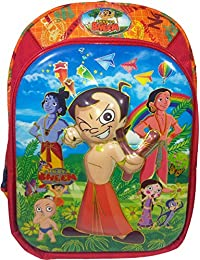 3D Chota Bheem Red & Orange Children's / Kid's Backpack Water Proof, School Bag For Class / Standard - KG, LKG...