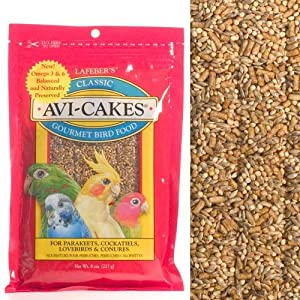 Lafeber's Avi-Cakes for Cockatiels / Parakeets / Lovebirds and Conures 8 oz