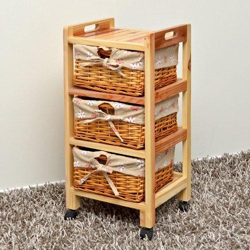 Mobiletto con cestini con stoffa di fiori per la cucina,corridoio ...
