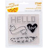 American Crafts Amy Tan Stitched Clear Acrylic Stamps, Day Dream