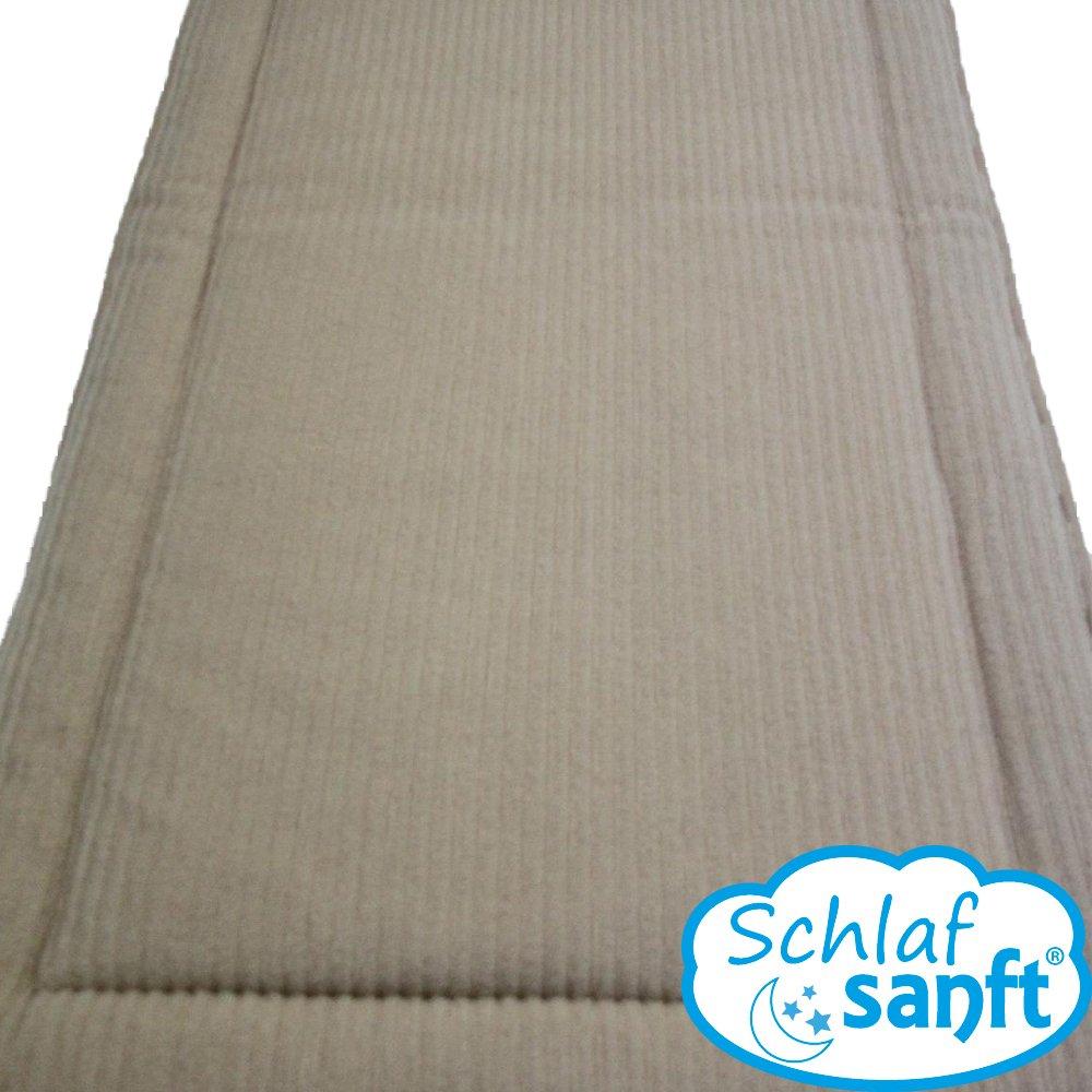 Unterbett Bettauflage Schafwolle Merino-Wolle Schurwolle Matratzen-Auflage mit Füllung (beige, 200×200) bestellen