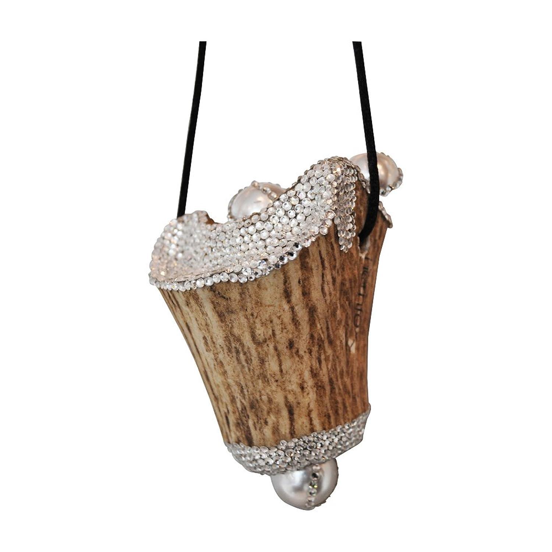 Hornfex Schmuckanhänger aus Hirschgeweih mit Modeschmuck Perlen und Swarovski-Elements online bestellen