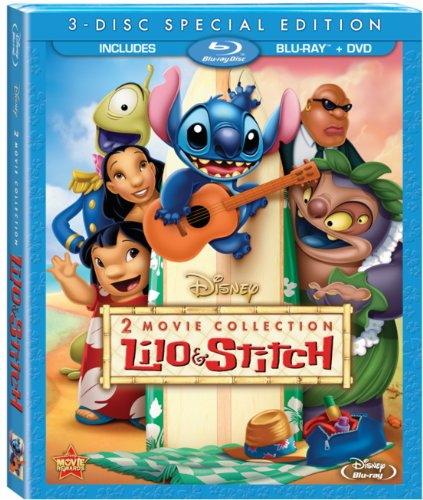 61FFA%2Bh5gCL Lilo & Stitch / Lilo & Stitch: Stitch Has A Glitch Two Movie Collection (Three Disc Blu ray / DVD Combo)