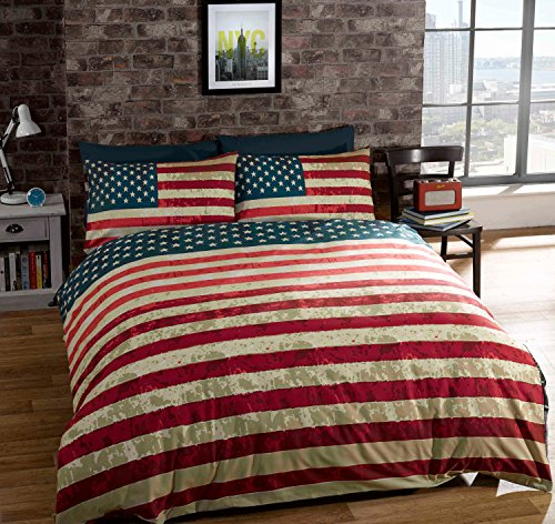 American Flag King Size Bedding