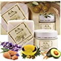 Best Cheap Deal for Shaving Soap & After Shave Cream Set - Premium Natural Vegan Shave Soap 3.4 oz & Skin Relaxation Creme 1.7 oz - Shea, Olive, Jojoba, Avocado and Almond Oils Blend Kit by Aya Natural - Free 2 Day Shipping Available