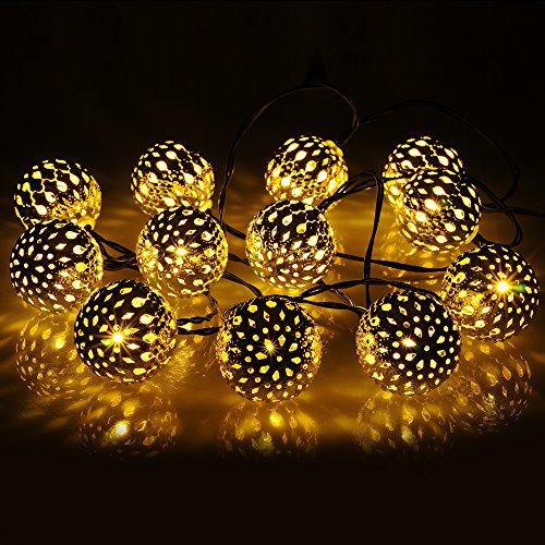 Comparamus victsing impermeabile stringa di luci ad - Sfere illuminazione giardino ...