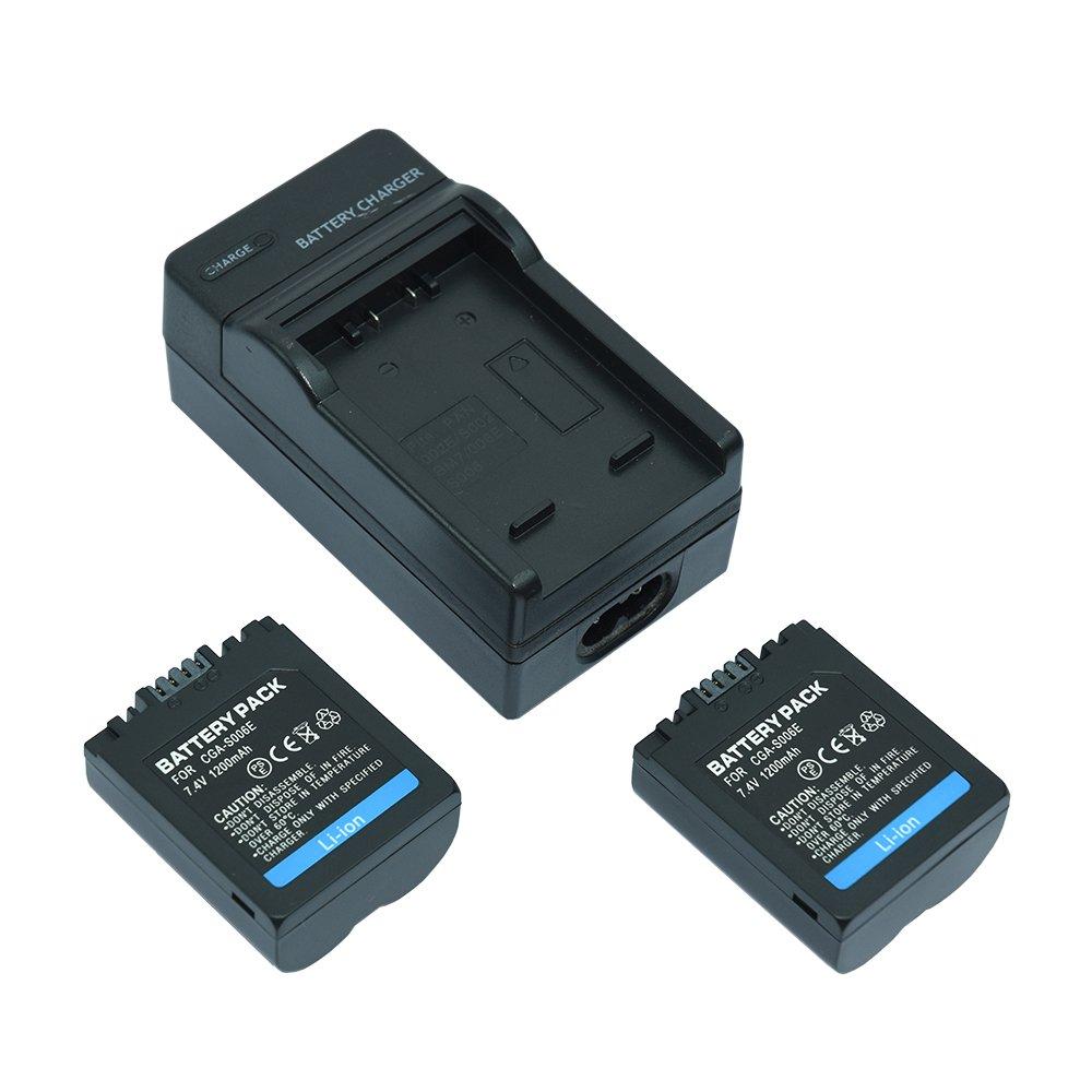 2 x battery cga s006 charger for panasonic lumix dmc - Batterie panasonic lumix dmc fz18 ...