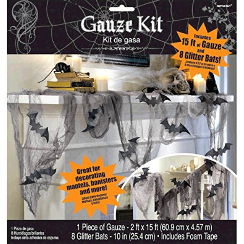 Glitter Bat and Gauze Kit Halloween Decoration