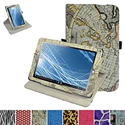 Insignia Flex 8.9 NS-P89W6100 Rotating Case,Mama Mouth 360 Degree Rotary Stand With Cute Lovely Pattern Cover For 8.9\