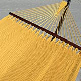 Double Caribbean Hammock - 48 inch - softspun polyester - yellow