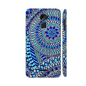 Colorpur Chroma Blue Zentangle Artwork On Coolpad Note 3 Lite Cover (Designer Mobile Back Case)   Artist: Prerika Arora